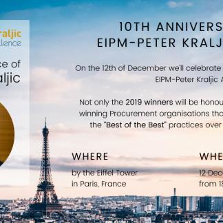 10th Anniversary of the EIPM Peter Kraljic Awards